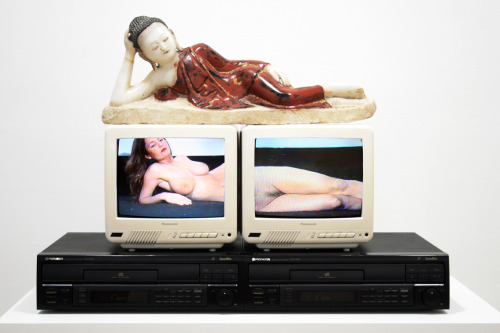 nam june paik reclining buddha 1994 cosa contemporary sacred art arte sacra contemporanea