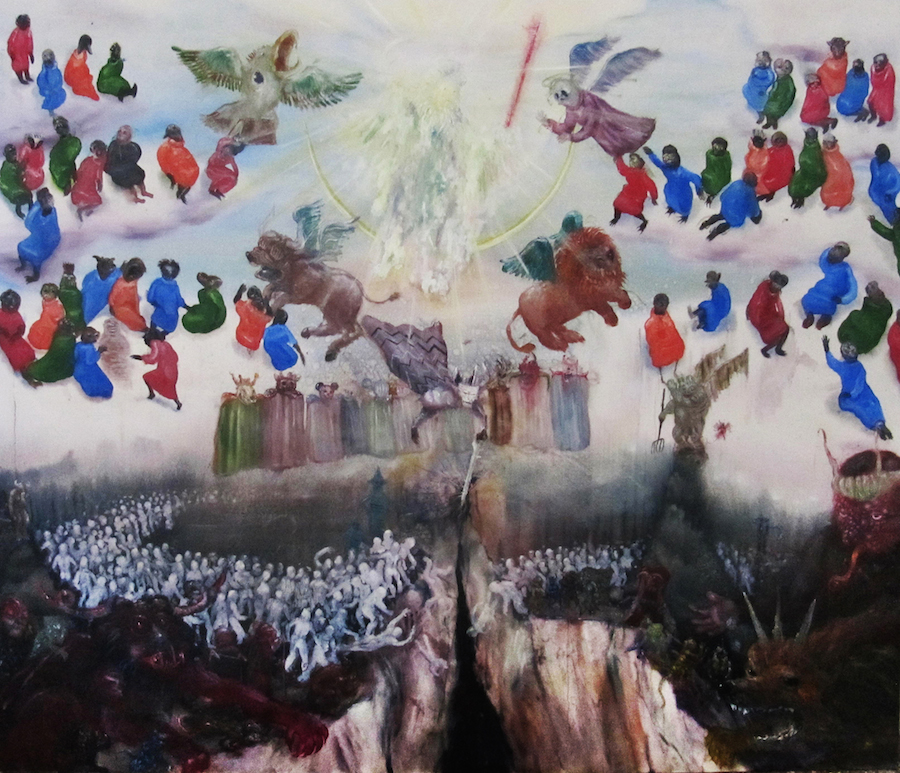 thomas-braida-armageddon-2012-oil-on-canvas-187-x-222-cm contemporary sacred art catastrofe e rivelazione apocalisse