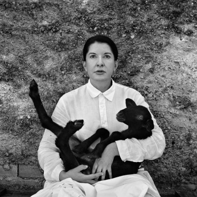Marina Abramovic - Portrait with Black Lamb, 2011 - Contemporary sacred art | CoSA