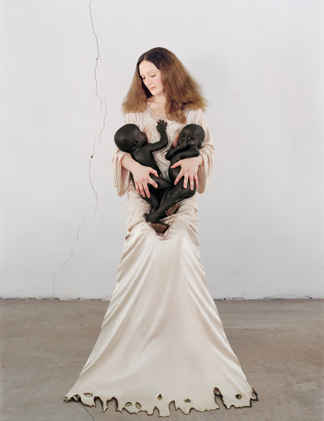 Vanessa Beecroft, VBSS - White Madonna with Twins, 2006