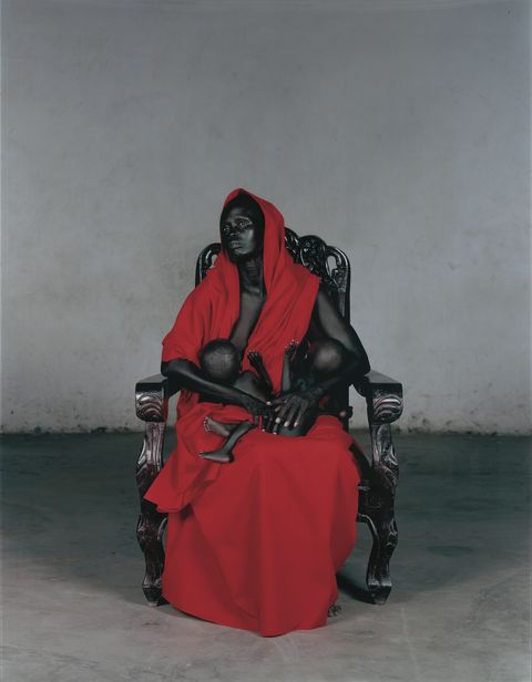 Vanessa Beecroft, Black Madonna with Twins, 2006